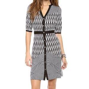 Diane Von Furstenberg Silk Jersey Fiona Dress 12